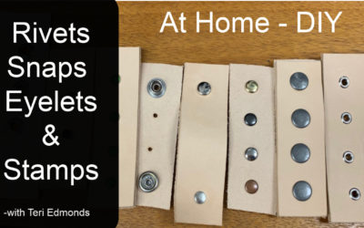 Rivets, Eyelets, Snaps and Stamps- Installing #at home